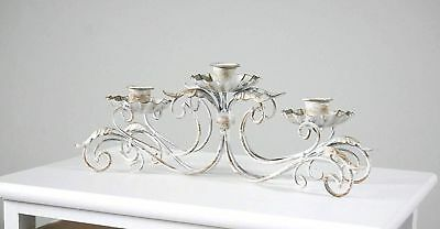 Antique French Style 3 Arm Taper Candle Holder Table Centrepiece Mothers Day 365