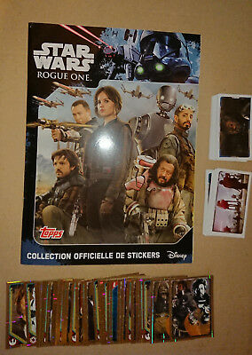 TOPPS STAR WARS ROGUE ONE (STICKER) - Album Vide + Set Complet à coller (lswro2)