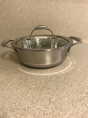 Princess House Tri Ply Stainless Steel 2.5 Qt Casserole, Pot w Lid   #5728 New