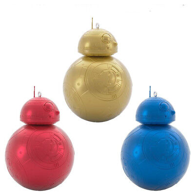 2018 Hallmark BB-8 MYSTERY Surprise Star Wars RED, GOLD & BLUE metallic ORNAMENT