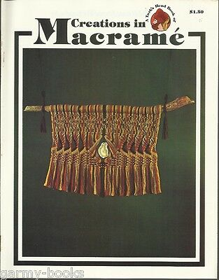 Creations in Macrame Turk's Head Series Vintage Pattern Instruction Book NEW