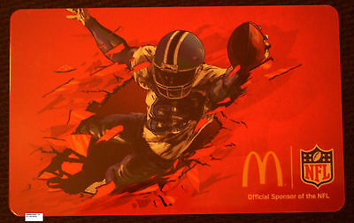 Unused McDonalds NFL Football Player Collectible GIFT ARCH CARD No Cash Value