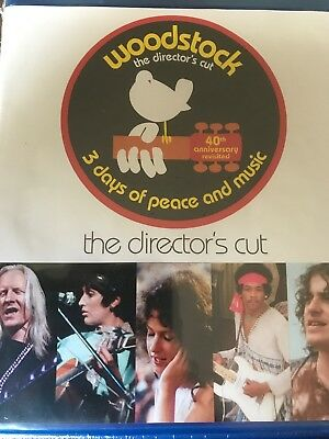 Woodstock 3 Days of Peace and Music (Blu-ray) Director's Cut NEW
