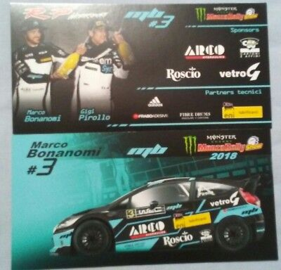 Fiesta wrc monza 2018 cartolina carte post card rally rallye