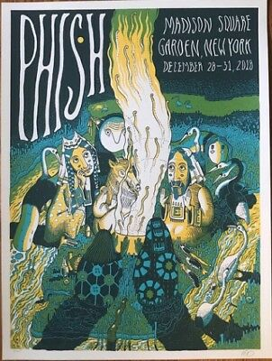 Phish Poster 2018 Neeley MSG Madison Square Garden Print New Year's NYE NY