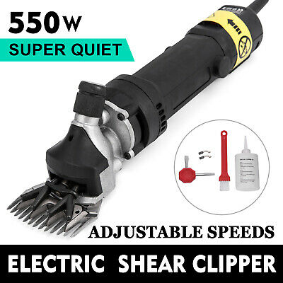 550W Black Electric Shearing Clippers Shears 5M Cable Brush Sheep Toolbox