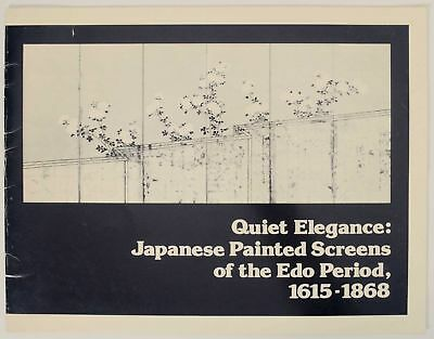 Quiet Elegance Japanese Painted Screens of the Edo Period 1983 1st ed #146762