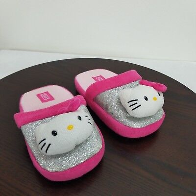 8ec4f6d09 Sanrio Hello Kitty Slippers Youth Kids Little Girls Size Medium 2/3 House  Shoes