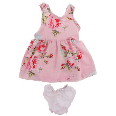 18inch Fashion Girl Doll Costume - Printed Princess Dress & Underpants Set