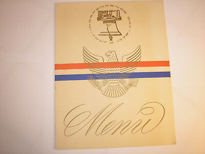 SS United States, Ocean Liner, July 4, 1968, Menu, United States Lines, Sailing
