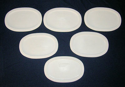 6 NEW Corning Ware French White LIDS /Covers F-15-PC 15 Oz Oval Lid Fit F-15-B