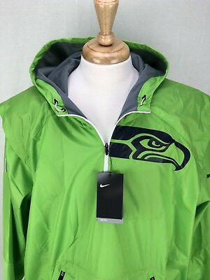 fc0e7bcbcb55 Nike NFL Seattle Seahawks Mens XXL Lightweight Fly Rush Hooded Pullover  Jacket
