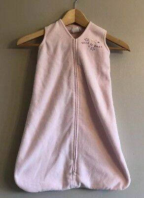 Girls Halo SleepSack Fleece Pink Small S 0 6 Months 10 to 18 Lbs