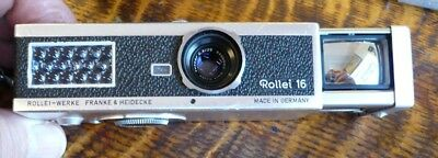 Rollei 16 German Made Sub-Miniature Camera With Case - 1963/67 Collectible EX