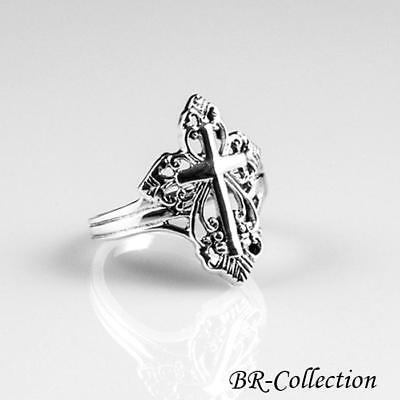 Beautiful 925 Sterling Silver Cross Ring