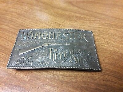 Vintage Winchester Repeating Arms NEW HAVEN CT Belt Buckle