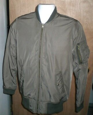 f2666683186 American Eagle Outfitters Bomber Flight Jacket Coat Mens SMALL S Olive Nice