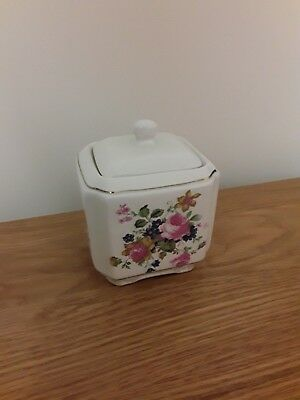 "Beautiful Sadler Tea/trinket Box Lidded ~ Vintage ""olde Chintz"" Floral"