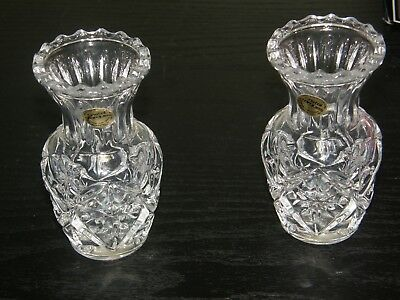 Set of 2 CRISTAL D'ARQUES Vases Brecy 9 cm