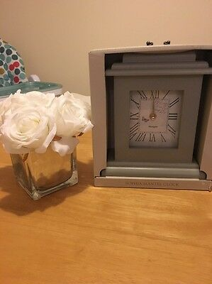 Shabby cottage country Grey Classic Chic mantle Mantel clock