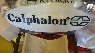 Calphalon, white plastic display sign department store Display
