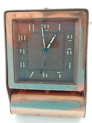 VINTAGE ORIGINAL JAEGER (LeCoultre) ART DECO POCKET FOLDING TRAVEL ALARM CLOCK