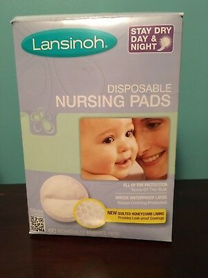 Lansinoh Nursing Pads, Stay Dry Individual Disposable Breast Pads New