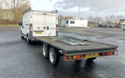 Heavy Duty twin axle trailer with ramps suit plant, mini digger or flatbed use
