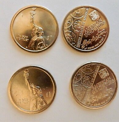 2018 P & D American Innovation Dollar Coins Pos A and B for each one (4 Coins)