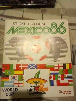 Panini Mexico 86 album Good Condition wit 200/427 Stickers only one page loose.