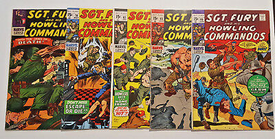 Sgt. Fury Silver and Bronze Age Comic Lot  5 Issues #31 78 82 85 86