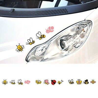 Car Sticker Creative Bees Butterfly Ladybird Pattern Self Adhesive Car Decal