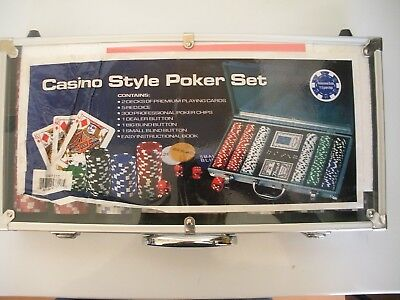 **NEW**  Casino Style Poker Set # GM-7317    300+ pieces