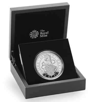 2017 Great Britain 10£ PROOF Silver 5-Ounce Queen's Beasts Unicorn of Scotland
