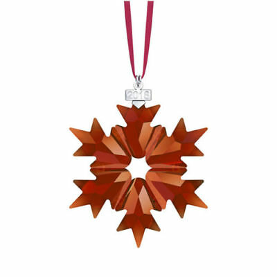 Nib-Swarovski 2018 Annual Large Star Snowflake Ornament~5460487~Red Magenta Rare