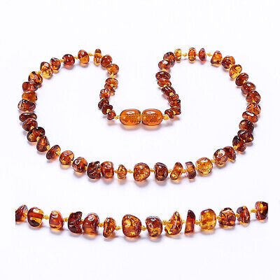 Baltic Amber Child (3yr+*) Necklace Beads Knotted 14-35CM, 4 Colors