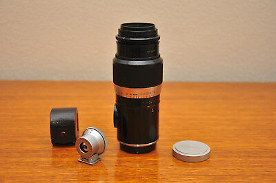Leica Leitz Hektor Screw Mount Lens 13.5cm plus Leica SOOH Viewfinder