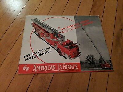 Vintage 1950's American LaFrance Century Fire Truck series advertising brochure!