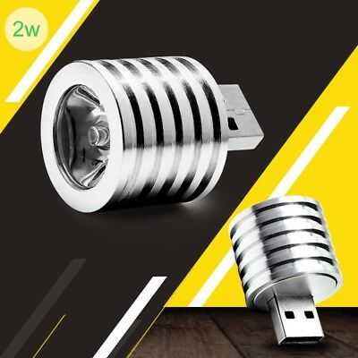 new 2W Portable Mini USB LED Spotlight Lamp Mobile Power Flashlight Silver
