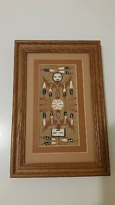 Authentic Navajo Framed Sandpainting 2 Ways Healing by Marlene Doby Signed