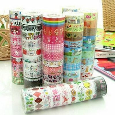 Newest Bulk 10Pcs Meter Paper Sticky Adhesive Sticker Decorative Washi Tapes