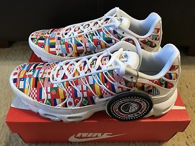 Nike Air Max Plus NIC QS Men s sz 13 White Multi World Cup Flag Pack AO5117 1a14d9f7b