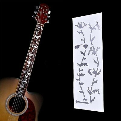 1pc DIY Tree Of Life Guitar Or Bass Fretboard Inlay Sticker Silver Colorjg P0CA