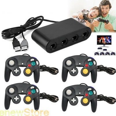 4 Port Game Cube Controller Adapter Gamepad  for Wii U PC USB Nintendo Switch