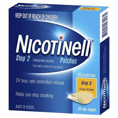 NEW Nicotinell Patches 14mg Step 2 28 Pack