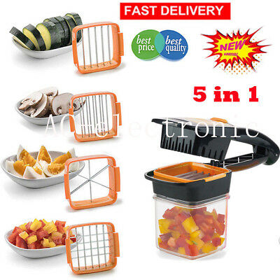 5 in1 Nicer Quick Dicer Fusion alimentaire fruits Légumes Cutter Slicers Chopper