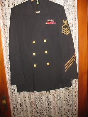 Us Navy Chief Petty Officer Jacket /sterling Silver Dolphin Sub Badge  $99.99