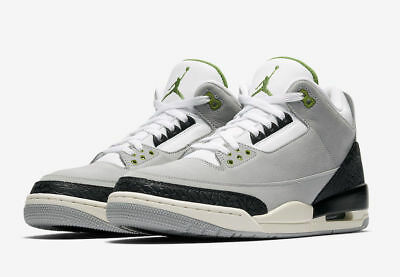 Nike Air Jordan 3 III Retro Chlorophyll Tinker Smoke Gray 136064-006 Men's NEW
