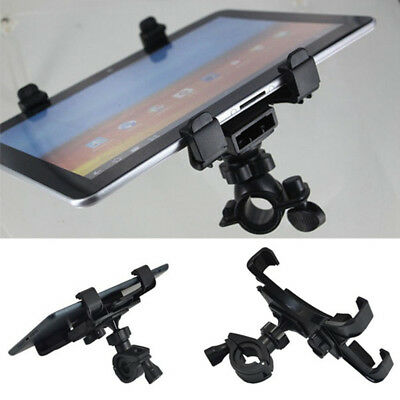 "Adjustable Music Microphone Bike Stand Mount Holder Clamp for 7-11"" Tablet ipad"