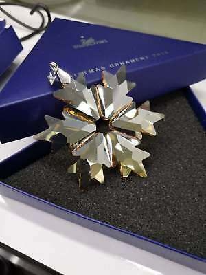 New 2018 Swarovski Crystal Gold-Champagne ANNUAL LARGE CHRISTMAS ORNAMENT 530157